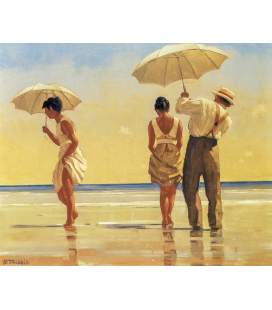Printing on canvas: Jack Vettriano - Mad Dogs