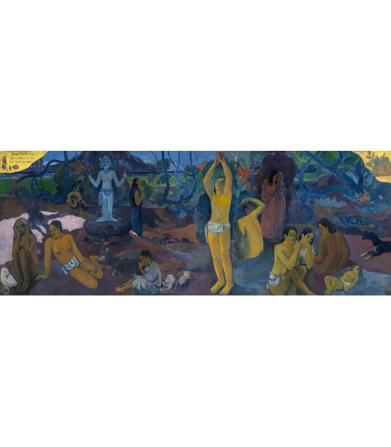 Stampa su tela: Paul Gauguin - Da dove veniamo, Chi siamo, Dove andiamo