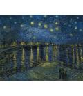 Vincent Van Gogh - Notte stellata su Rodano. Stampa su tela
