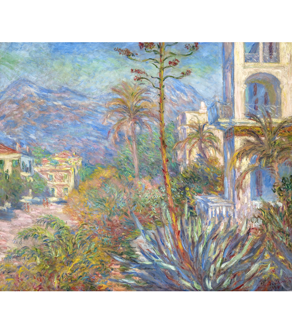 Printing on canvas: Claude Monet - Villas in Bordighera