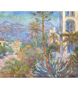Printing on canvas: Claude Monet - Villas in Bordighera