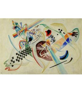 Vassily Kandinsky - Sul Bianco. Stampa su tela