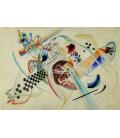 Stampa su tela: Vassily Kandinsky - Sul Bianco