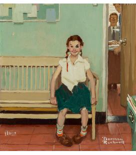 Norman Rockwell - La ragazza con l'occhio nero. Stampa su tela
