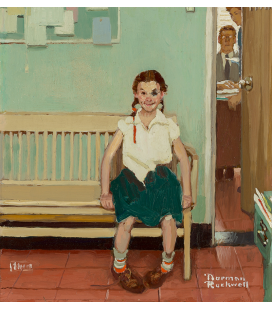 Norman Rockwell - The girl with the black eye. Printing on canvas