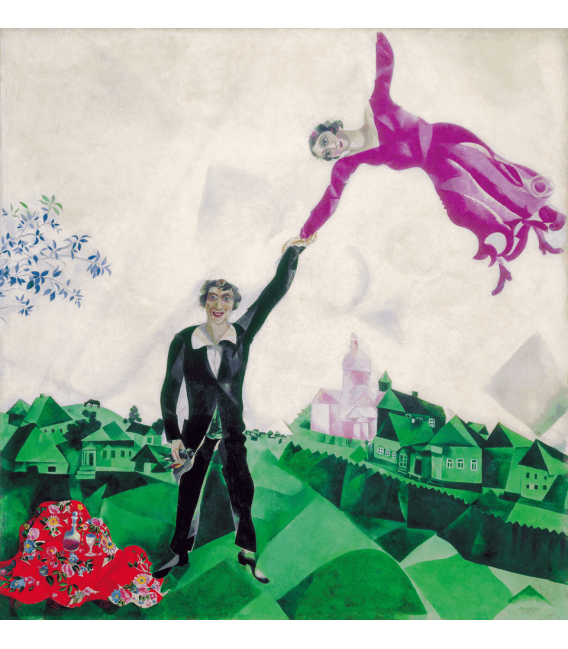 Printing on canvas: Marc Chagall - The Promenade