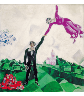 Marc Chagall - The Promenade. Printing on canvas