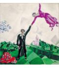 Stampa su tela: Chagall Marc - La Passeggiata - The Promenade