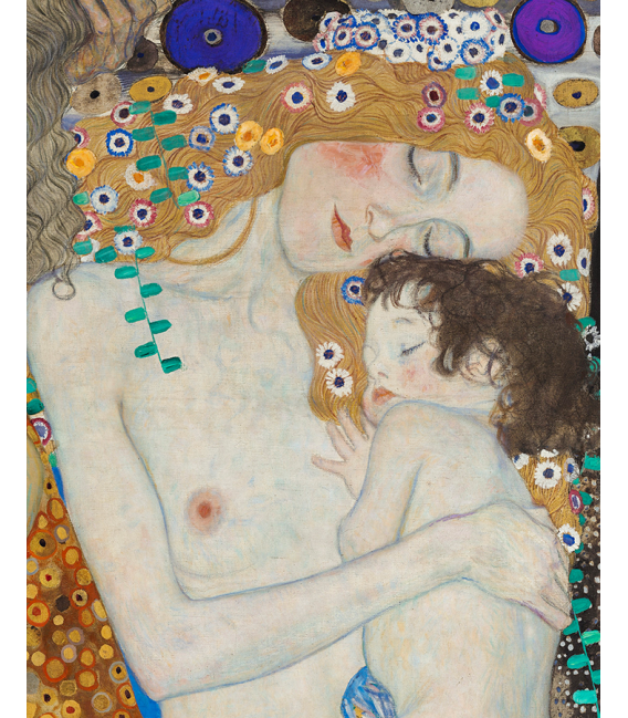 Printing on canvas: Gustav Klimt - The Three Ages of woman. Detail
