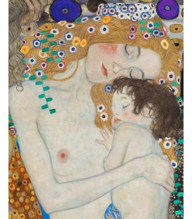 Gustav Klimt - Le tre età della donna particolare. Stampa su tela
