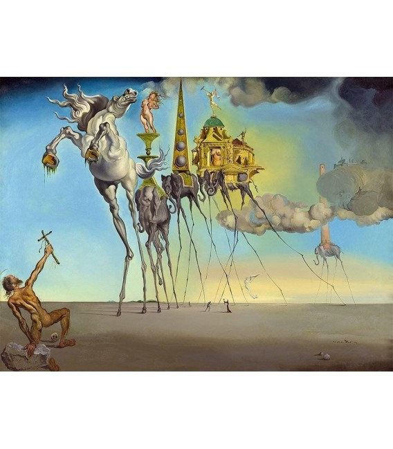 Printing on canvas: Salvador Dalí - The Temptation of St. Anthony