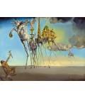 Stampa su tela: Salvador Dalí - La tentazione di Sant'Antonio