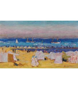Pierre Bonnard - La spiaggia. Stampa su tela
