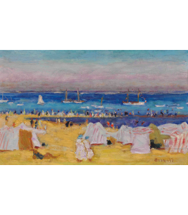 Pierre Bonnard - The beach. Printing on canvas