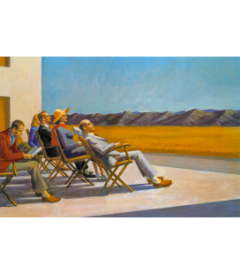 Edward Hopper - People in the Sun 1960. Printing on canvas