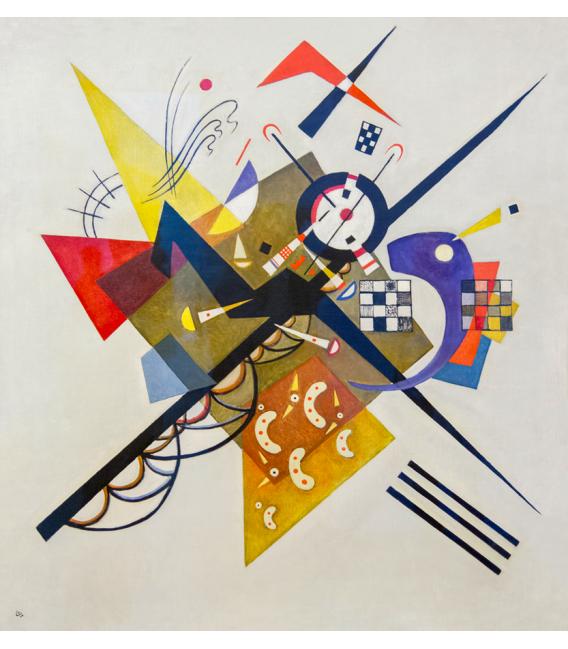 Kandinsky Vassily - On White II. Printing on canvas