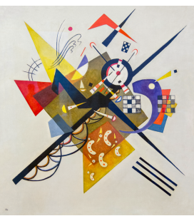 Kandinsky Vassily - On White II. Printing on canvas