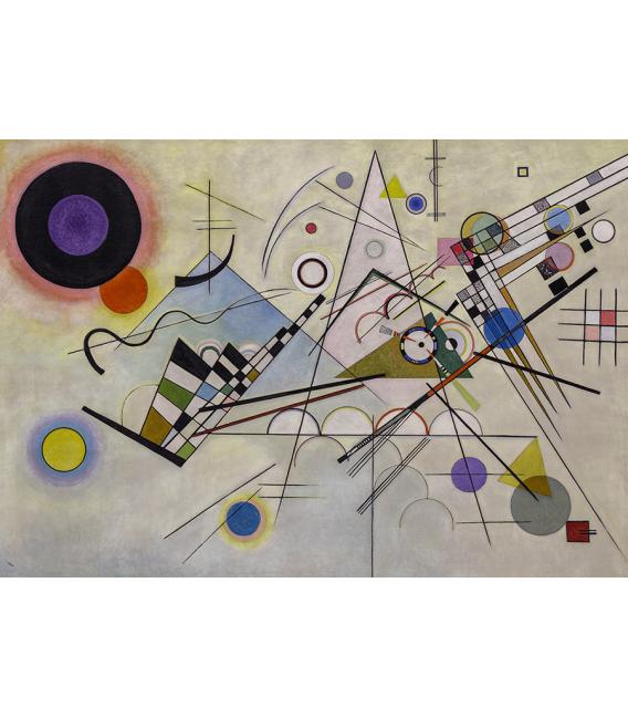 Vassily Kandinsky - Komposition 8. Printing on canvas