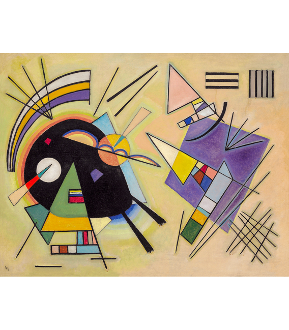 Vassily Kandinsky - Black and Violet. Printing on canvas