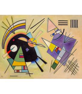 Vassily Kandinsky - Nero e Viola. Stampa su tela