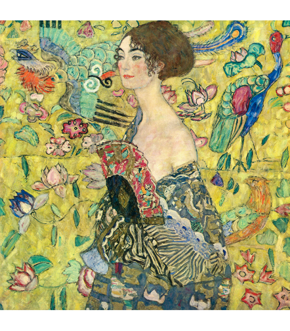Gustav Klimt - Lady with Fan. Printing on canvas