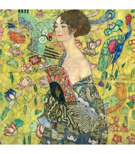 Gustav Klimt -Donna con Ventaglio. Stampa su tela