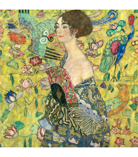 Gustav Klimt - Lady with Fan. Printing on canvas