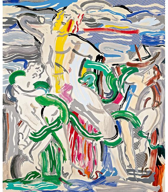 """Roy Fox Lichtenstein - """"Laocoön"""", 1988. Printing on canvas"""