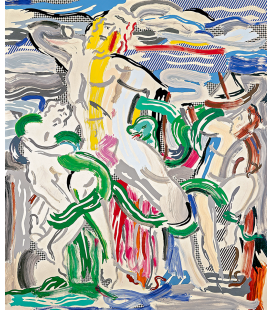 "Roy Fox Lichtenstein - ""Laocoön"", 1988. Printing on canvas"