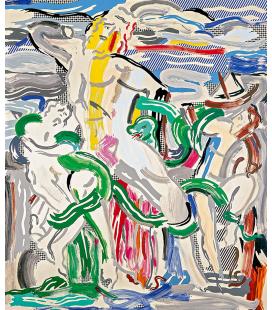 """Roy Fox Lichtenstein - """"Laocoön"""", 1988. Stampa su tela"""