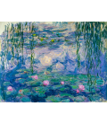 Claude Monet - Water Lilies 1916-19. Printing on canvas