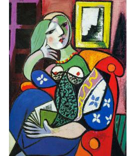 Picasso Pablo - Donna che legge. Stampa su tela