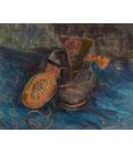 Vincent Van Gogh - Un paio di stivali. Stampa su tela