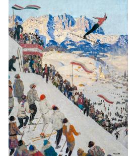 Alfons Walde - Grubschanze vicino a Kitzbühel. Stampa su tela
