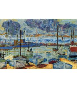 Pierre Bonnard -Il Porto di Cannes. Stampa su tela