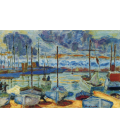 Pierre Bonnard - The port of Cannes. Printing on canvas