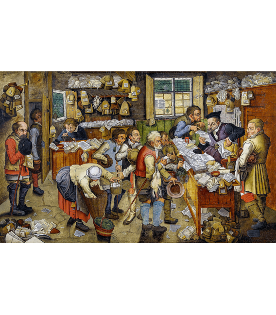 Pieter Bruegel the Elder - Payment of tithes (Lawyer Village). Printing on canvas