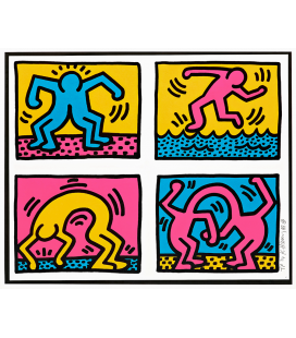 HARING_001 - Haring Keith - Pop shop quad II. Stampa su tela