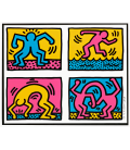 HARING_001 - Haring Keith - Pop shop quad IIPrinting on canvas