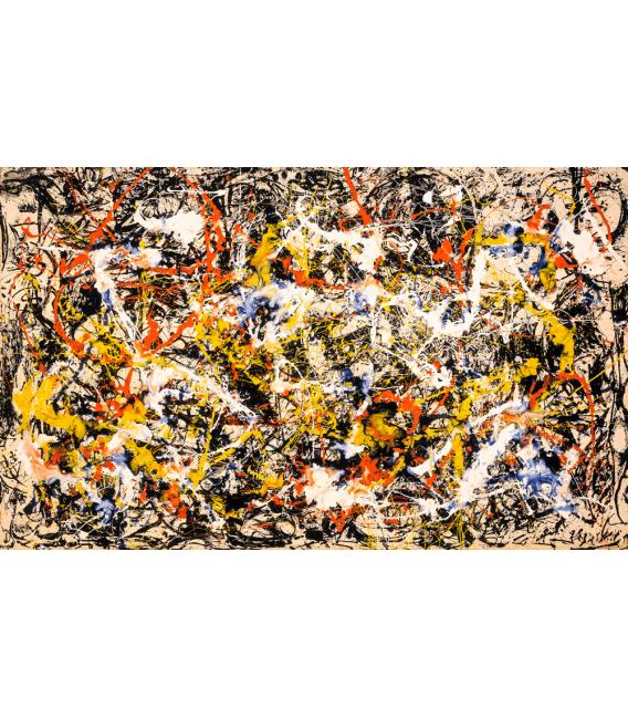 Printing on canvas: Jackson Pollock - Convergence