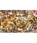 Jackson Pollock - Convergence. Printing on canvas