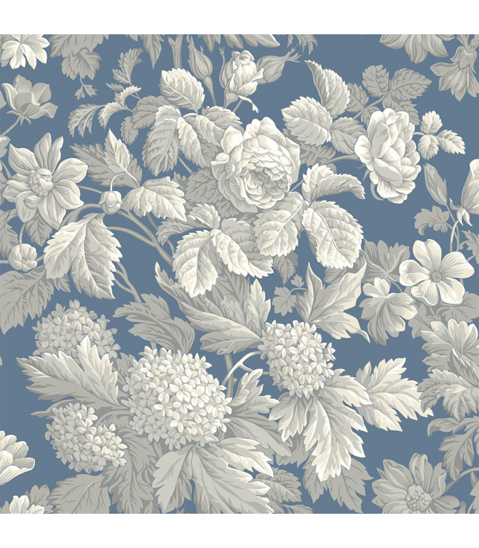 Rice paper for furniture decoration flowers in blue color for Furniture decoration paper