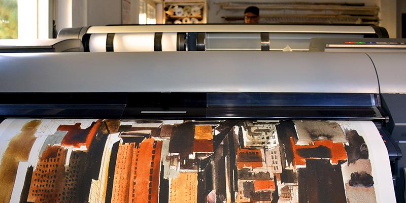 stampa giclée su tela
